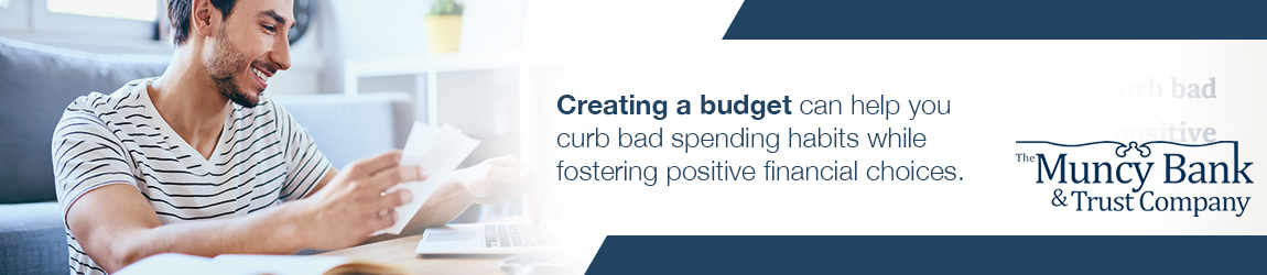 Creating a budget can help you curb bad spending habits while fostering positive financial choices.