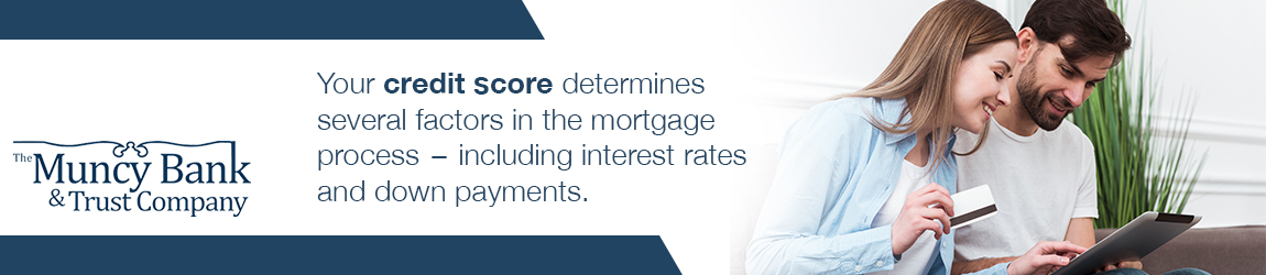 Your credit score determines several factors in the mortgage process - including interest rates and down payments.